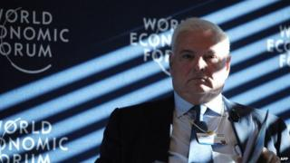 "File picture of Ricardo Martinelli as he attends the session ""The New Latin America Context"" at the World Economic Forum in Davos on 22 January, 2014"