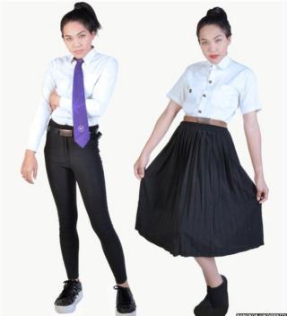 Image shows suggested clothing for transgender Bangkok University students