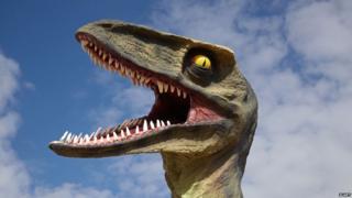 Papier mache dinosaur