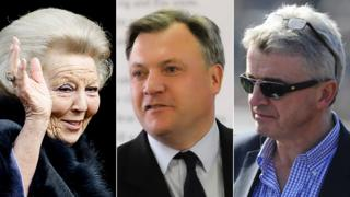 Princess Beatrix of Holland, Ed Balls and Michael O'Leary