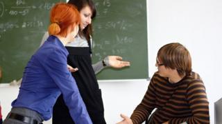 Debate in classroom