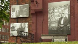 Photographs celebrating document the social history of migrant communities being exhibited on the streets of Birmingham