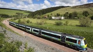 Train on Borders railway