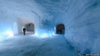 A view of the ice tunnel