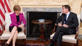 Nicola Sturgeon and Tony Blinken