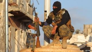 Al-Nusra Front fighter in Idlib (29 May 2015)