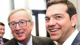 Mr Tsipras met European Commission President Jean-Claude Juncker on Thursday