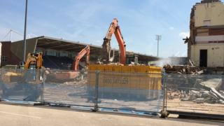Work taking place at Franklin's Gardens