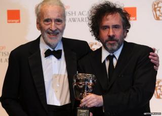 Sir Christopher Lee and Tim Burton