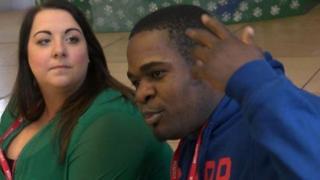 Celine Forrest a Blaise Malaba