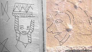 Graffiti from Swannington and Marsham churches in Norfolk