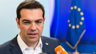Alexis Tsipras in Brussels on 11 June 2015