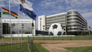 The Conmebol headquarters in in Asuncion, Paraguay