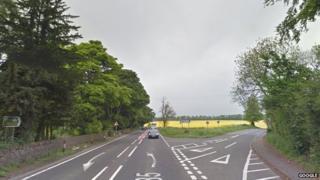 A985 near the Limekilns junction