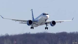 Bombardier CS300 aircraft