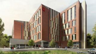 CGI of planned student accommodation