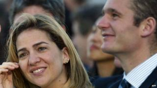 Princess Cristina and Inaki Urdangarin, file pic, 2003