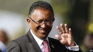 President of Madagascar Hery Rajaonarimampianina (2014 picture)