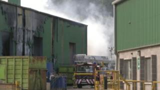 The scene of the fire in Carnbane industrial estate