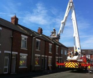 Fire-hit house, Lewes Road, Darlington