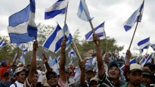 Protesters in Nicaragua against a planned canal linking the Atlantic and Pacific oceans