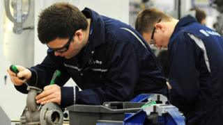 apprentices at Rolls Royce Learning and Career Development Centre at Derby