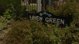 The house in Linen Green was searched after a vehicle linked to the property sped off from a police checkpoint