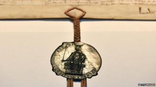 1297 copy of Magna Carta, bearing the seal of Edward I