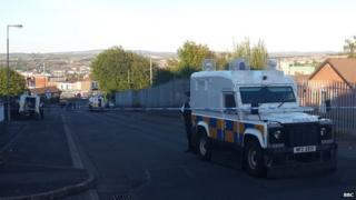 Scene of shooting in Creggan, Londonderry