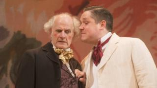 Grant O'Rourke (right) in the Royal Lyceum production