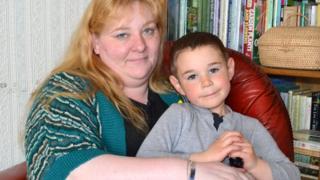 Bradley Simpson with mother Leona