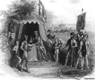 King John of England signing the Magna Carta