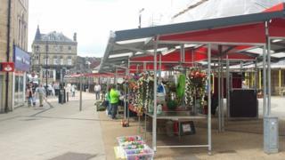 Barnsley market stalls