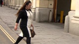 Rebecca Minnock arrives at court