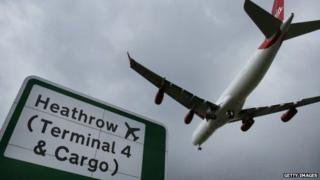 Aircraft over Heathrow