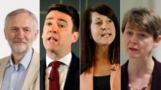 Jeremy Corbyn, Andy Burnham, Liz Kendall, Yvette Cooper