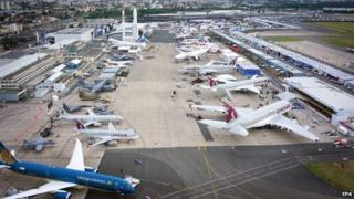 A general view of the Paris Air Show 2015