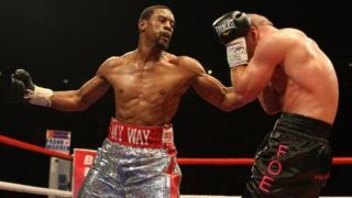 Anthony Small boxing (left)