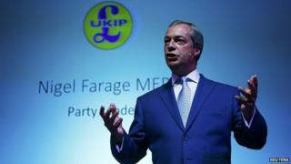 Nigel Farage speaking last week at the party's South East conference