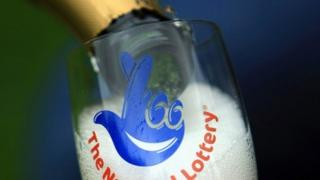 National Lottery champagne flute