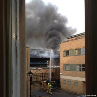 Fire at Magdalen College School