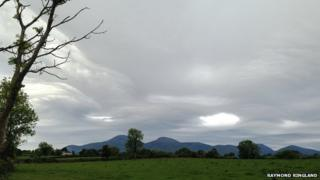 Cloudy skies at Aughlisnafin