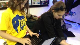 Children use computers