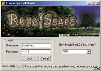 Runescape program screenshot