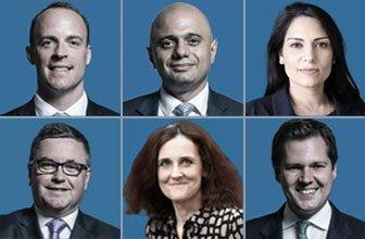 Dominic Raab, Sajid Javid, Priti Patel, Robert Jenrick, Theresa Villiers, Robert Buckland