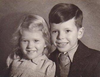 Tony and his sister, Eleanor