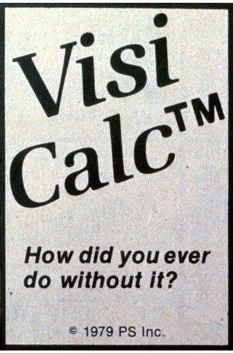 A 1979 advert for VisiCalc