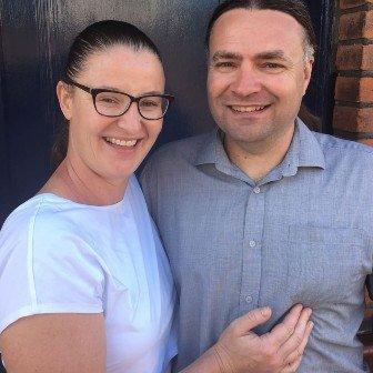 Keris De Villiers and husband Lee