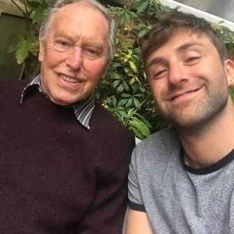 Tom Brada with his grandad