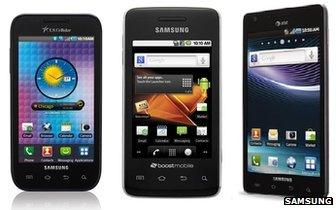 Samsung Mesmerize, Galaxy Prevail and Infuse handsets
